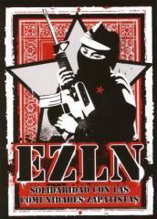 """Zum Aufkleber-Paket """"EZLN Solidaridad con las Comunidades Zapatistas"""" für 1,80 € gehen."""