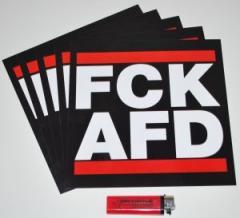 """Zum Aufkleber-Paket """"FCK AFD groß (210/210mm) 5er Pack"""" für 2,50 € gehen."""