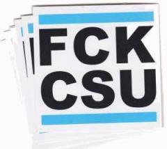 """Zum Aufkleber-Paket """"FCK CSU"""" für 1,80 € gehen."""
