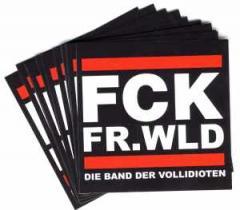 """Zum Aufkleber-Paket """"FCK FR.WLD"""" für 1,80 € gehen."""