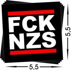 """Zum Aufkleber-Paket """"FCK NZS klein (52/52mm)"""" für 1,00 € gehen."""