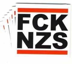 """Zum Aufkleber-Paket """"FCK NZS"""" für 1,60 € gehen."""