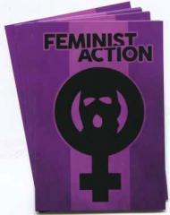 """Zum Aufkleber-Paket """"Feminist Action"""" für 1,80 € gehen."""