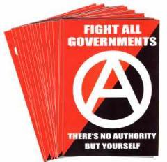 """Zum Aufkleber-Paket """"Fight All Governments"""" für 1,80 € gehen."""