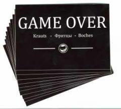 """Zum Aufkleber-Paket """"Game Over"""" für 1,80 € gehen."""