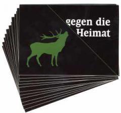 """Zum Aufkleber-Paket """"gegen die heimat"""" für 1,80 € gehen."""