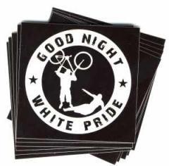 """Zum Aufkleber-Paket """"Good Night White Pride - Fahrrad"""" für 1,75 € gehen."""