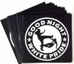 """Zum Aufkleber-Paket """"Good night white pride"""" für 1,80 € gehen."""