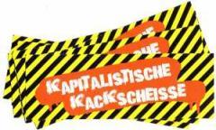 """Zum Aufkleber-Paket """"Kapitalistische Kackscheisse"""" für 2,20 € gehen."""