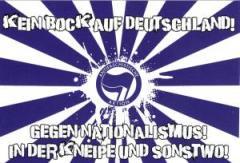 """Zum Aufkleber-Paket """"Kein Bock auf Deutschland!"""" für 1,80 € gehen."""