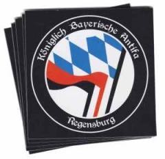 """Zum Aufkleber-Paket """"Königlich Bayerische Antifa - Regenburg"""" für 2,00 € gehen."""