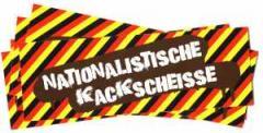 """Zum Aufkleber-Paket """"Nationalistische Kackscheisse"""" für 2,20 € gehen."""