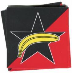 """Zum Aufkleber-Paket """"Schwarzer Stern + Banane"""" für 1,80 € gehen."""