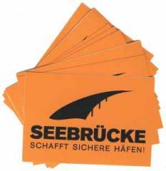 """Zum Aufkleber-Paket """"Seebrücke (schwarz)"""" für 1,80 € gehen."""