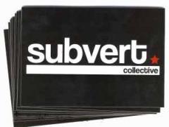 """Zum Aufkleber-Paket """"Subvert Collective"""" für 1,80 € gehen."""