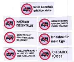 """Zum Aufkleber-Paket """"SUV stoppen"""" für 1,40 € gehen."""