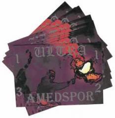 """Zum Aufkleber-Paket """"Ultra Amedspor 1312"""" für 2,50 € gehen."""