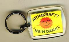 """Zum Schlüsselanhänger """"Atomkraft? Nein Danke"""" für 3,00 € gehen."""